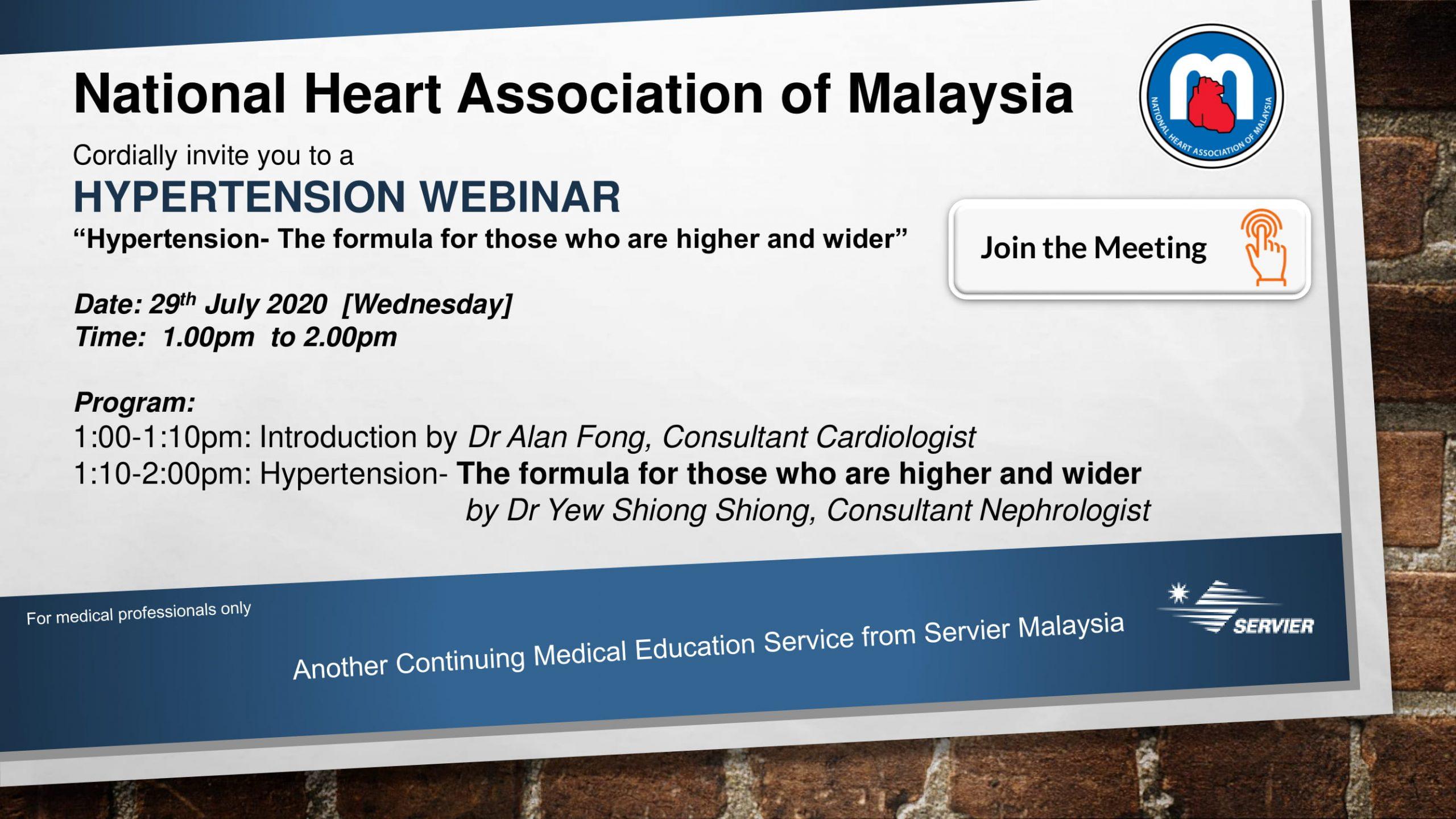 Hypertension Webinar